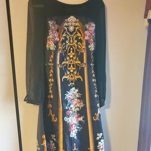 A work of art!! Long sleeved full length dress